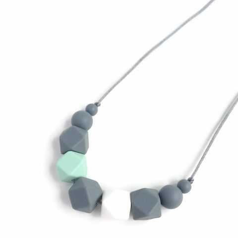 Lexie Silicone Teething Necklace - Minted Lane