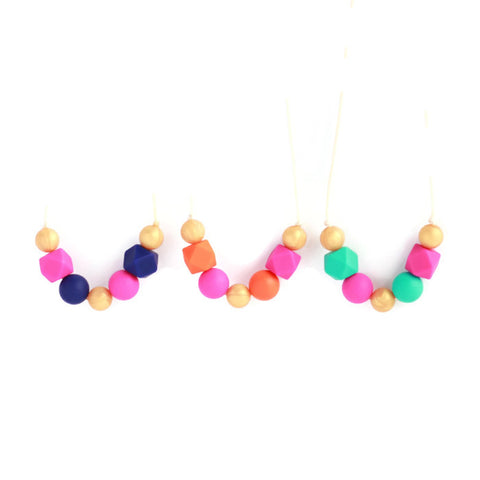 Kate Silicone Teething Necklace - Minted Lane