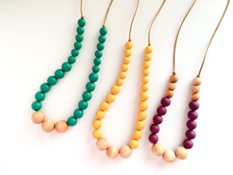 FALL Silicone Teething Necklaces