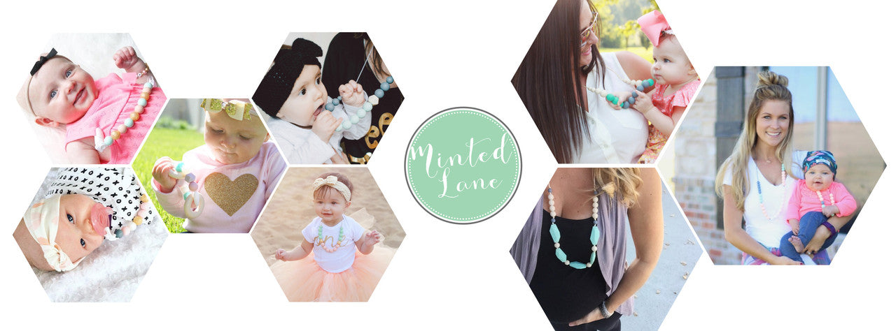 Minted Lane Silicone Teething Jewelry