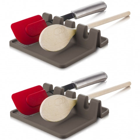 Utensil Rest 2-Pack, Grey