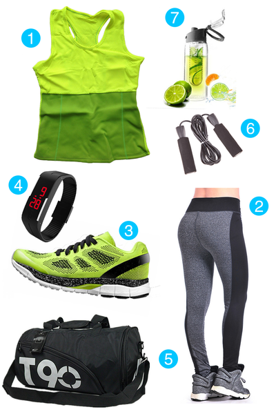 Stylish Mean & Green Workout Fashion Combo Set