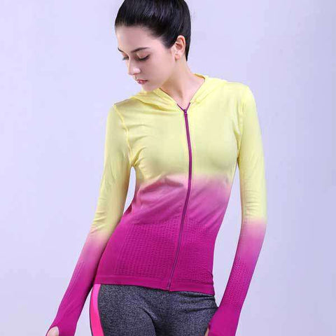 Colorful Gradient Running Jacket