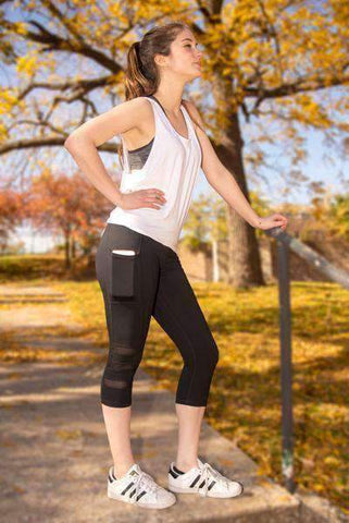 Image of Capri Mesh Pocket Leggings - Free U.S. Shipping!