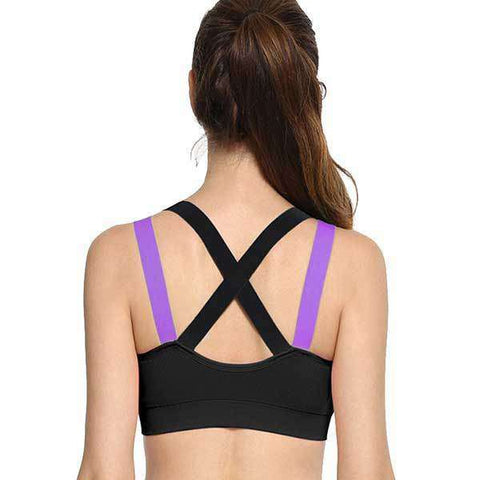 Image of Cross Strap Padded Sports Bra