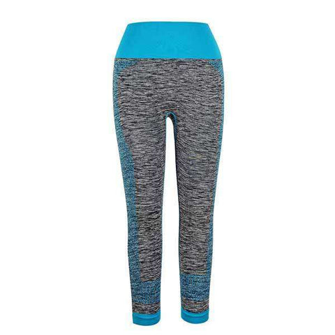 Image of Elastic Waist Color Compression Leggings