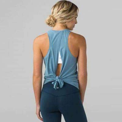 Image of Tied Back Workout Top 7 Colors