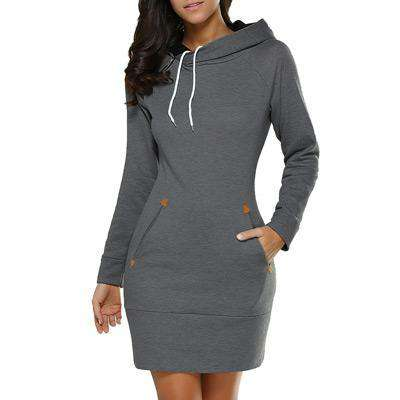 Image of Long Sleeve Hoodie Dress