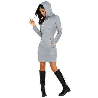 Long Sleeve Hoodie Dress