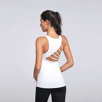 Hollow Back Stripe Tank
