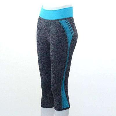Quick Dry Neon Stretch Fit 3/4 Leggings