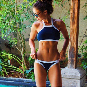 High Neck Low Waist Bikini