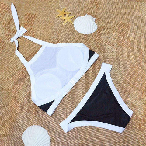 Image of High Neck Low Waist Bikini