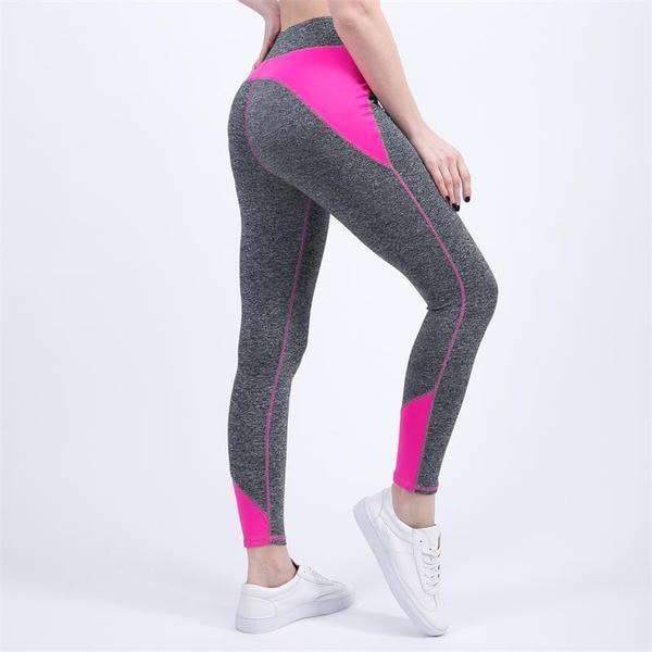 Color Contrast Leggings - Elastic and Durable 4 Colors