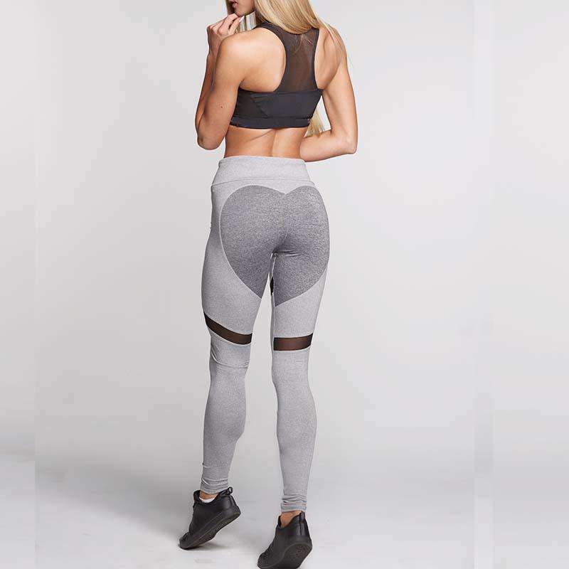 Heart Back - Mesh Slit Leggings