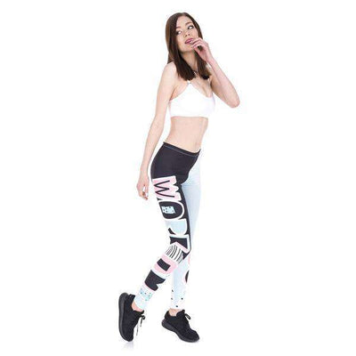 Work Out Patches Print Leggings