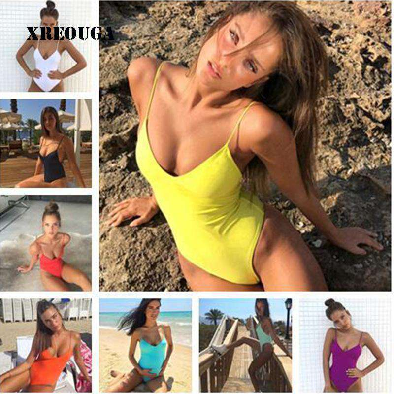 Beach Light One Piece Push Up Swimsuit