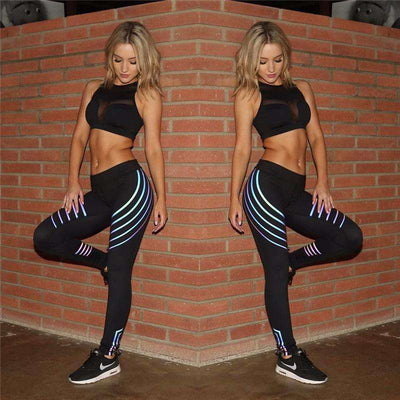 Reflective Stripe Leggings