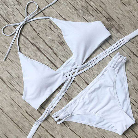 Image of Celebrity Low Waist Strap Bikini Set
