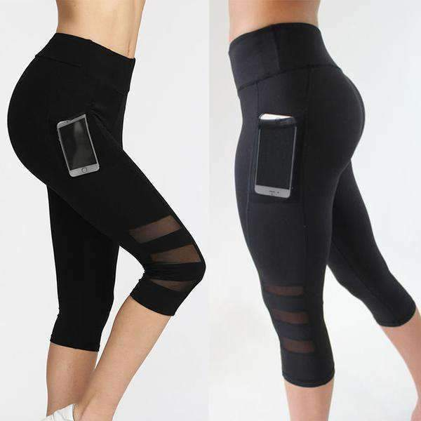 Capri Mesh Pocket Leggings - Free U.S. Shipping!