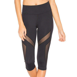 Patchwork Power Capri Leggings