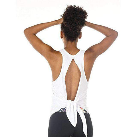 Image of Racerback Tied Back Tank Top