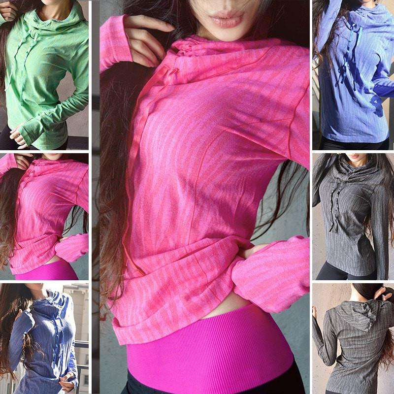 Women's Activewear Hooded Multi Color Sweater - HerFitness