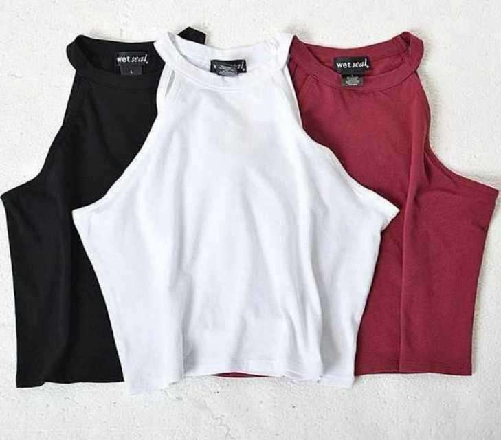 100% Cotton Crop Tops - HerFitness - 1