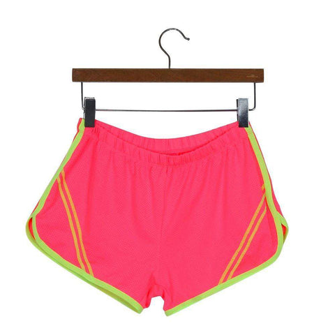 Quick-Drying Elastic Waist Candy Color Running Shorts - HerFitness - 12