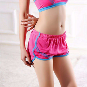 Quick-Drying Elastic Waist Candy Color Running Shorts - HerFitness - 1