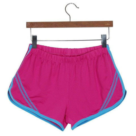 Quick-Drying Elastic Waist Candy Color Running Shorts - HerFitness - 7