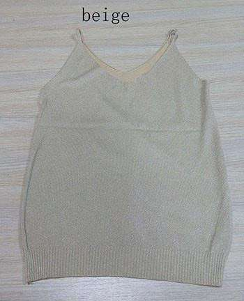 Image of Icecream Camisole Crop Top - Glittering Knitted Stretch Slim Tank Top In 9 colors - HerFitness - 10