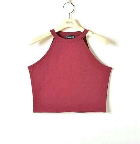 Image of 100% Cotton Crop Tops - HerFitness - 2