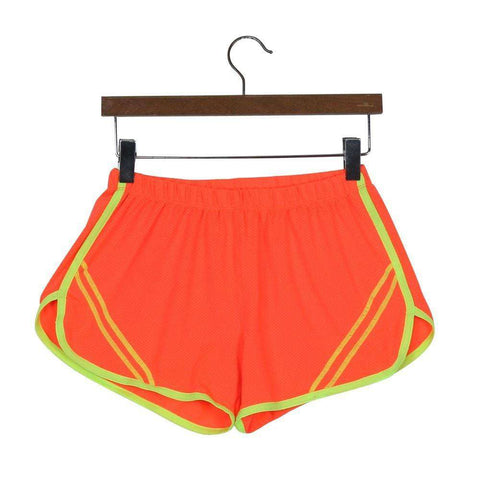 Image of Quick-Drying Elastic Waist Candy Color Running Shorts - HerFitness - 3