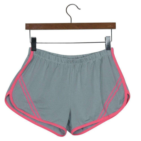 Quick-Drying Elastic Waist Candy Color Running Shorts - HerFitness - 11