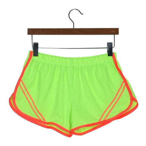 Quick-Drying Elastic Waist Candy Color Running Shorts - HerFitness - 5