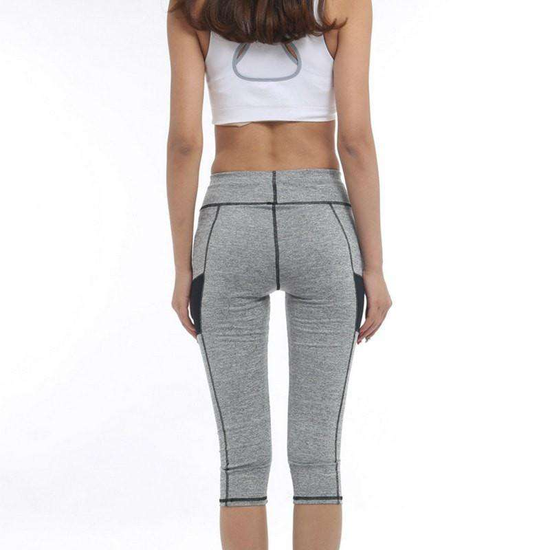 High Waist 3/4 Sport Leggings -  - HerFitness.co - 2