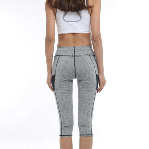 Image of High Waist 3/4 Sport Leggings -  - HerFitness.co - 2