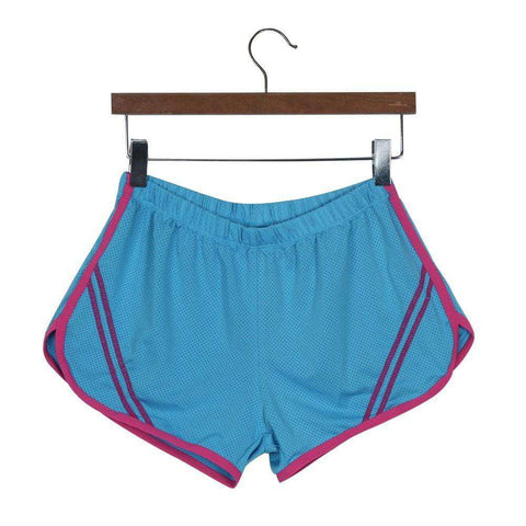Quick-Drying Elastic Waist Candy Color Running Shorts - HerFitness - 2