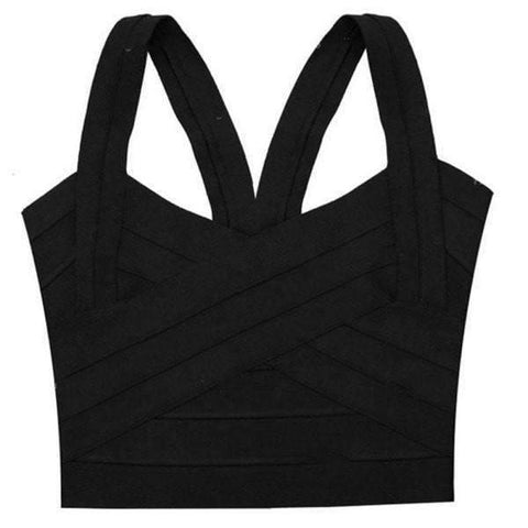 Image of Unpadded Tank Top Bustier Cropped