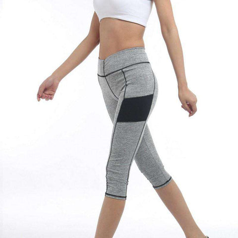 Image of High Waist 3/4 Sport Leggings -  - HerFitness.co - 4