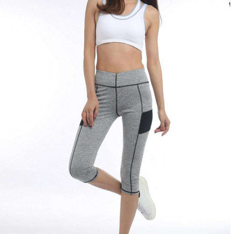 Image of High Waist 3/4 Sport Leggings -  - HerFitness.co - 3