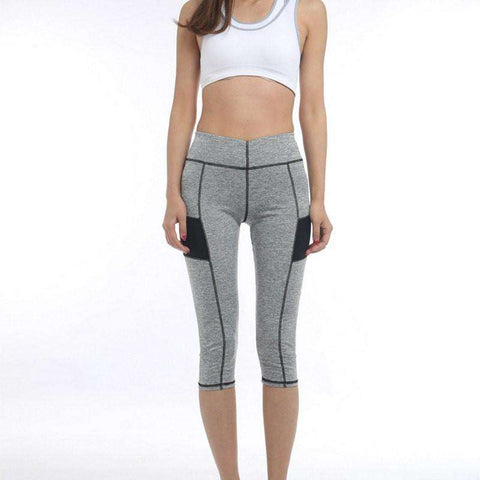 Image of High Waist 3/4 Sport Leggings -  - HerFitness.co - 1