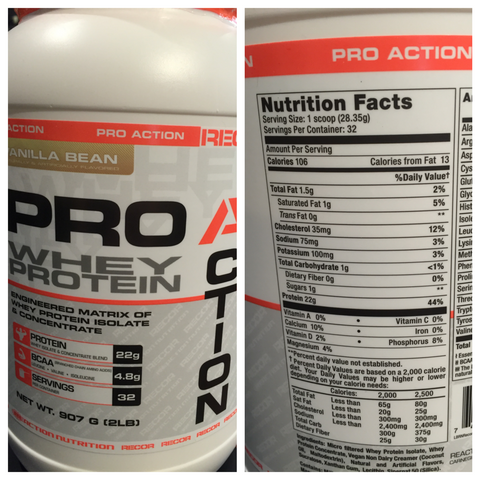 NutriFit Cleveland - Reaction Nutrition Proaction