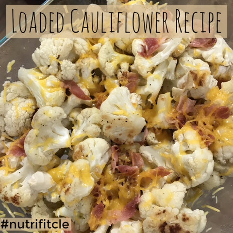 NutriFit Cleveland - Loaded Cauliflower Bites Recipe