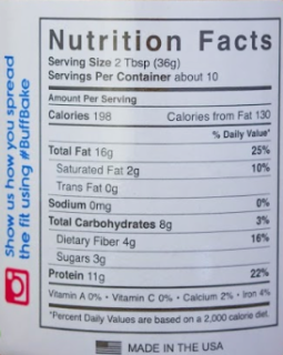 NutriFit Cleveland - Buff Bake Birthday Cake Nutrition Facts