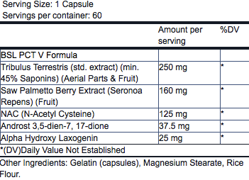 NutriFit Cleveland - Blackstone Labs PCTV Supplement Facts