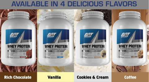 NutriFit Cleveland - GAT Whey Protein Flavors