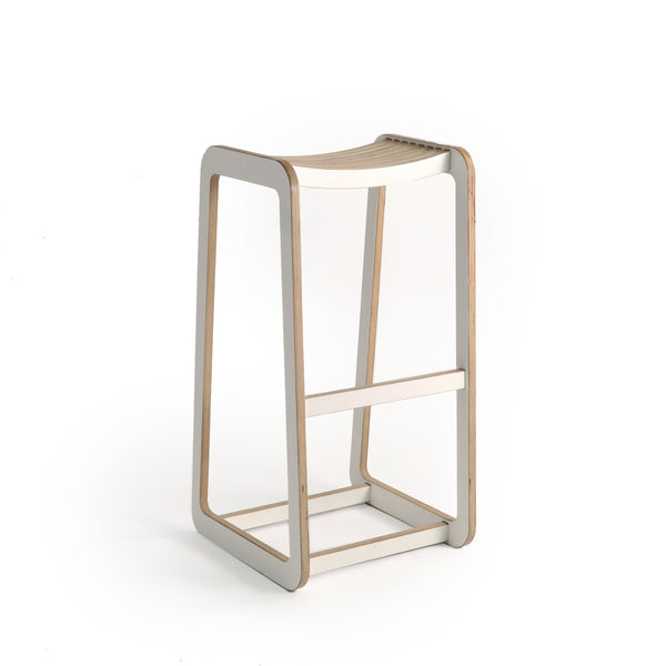 D-Bar Stool Slatted