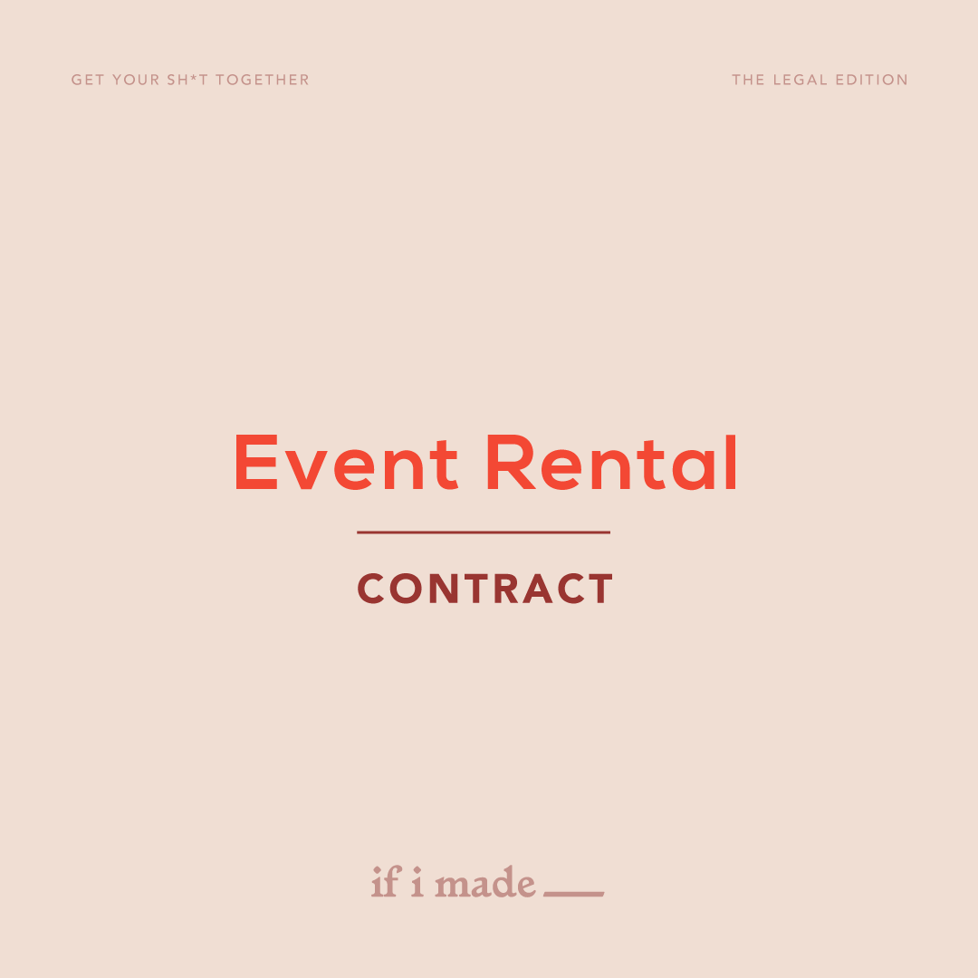 Legal Contract - Event Rental
